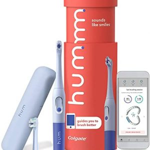colgate hum smart battery toothbrush kit with travel case and replacement