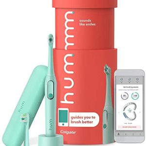 colgate hum smart electric rechargeable sonic toothbrush with travel case and