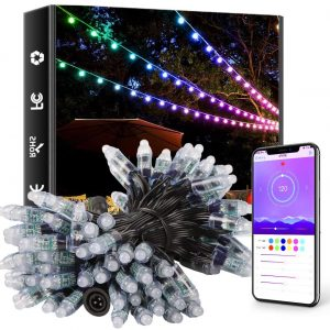ellight outdoor string lights 39ft 100led dream color christmas lights with