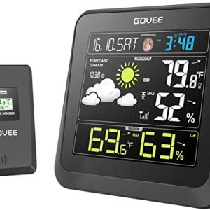 govee wireless weather station color lcd display weather forecast with