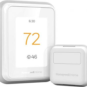 honeywell home t9 wifi smart thermostat with 1 smart room sensor touchscreen