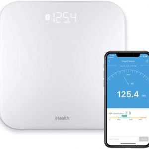 ihealth lina smart digital body weight scale bathroom scale with step on
