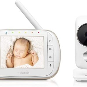 motorola baby smart video baby monitor with wi fi 35 color lcd parent