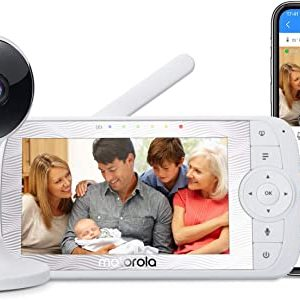 motorola connect60 video baby monitor 5 parent unit and 1080p wi fi