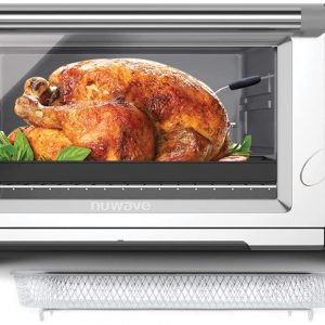 nuwave bravo xl 30 quart convection oven with crisping and flavor infusion