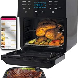 nuwave brio 14 quart large capacity air fryer oven with digital touch screen