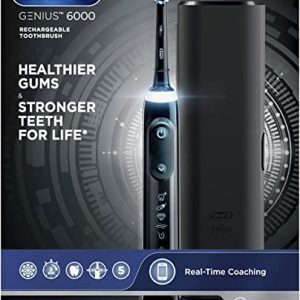 oral b pro 6000 smart series power rechargeable electric toothbrush black