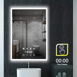 peralng led bathroom mirror wall mounted light 28 x 20 lighted edge backlit
