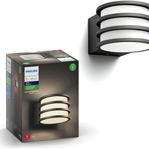 philips hue lucca white outdoor lantern hub required smart outdoor wall