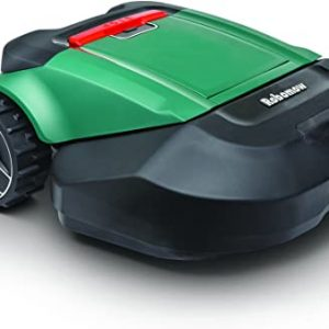 robomow rs630 battery powered robotic lawn mower green