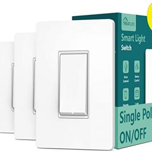 single pole treatlife smart light switch 4 pack neutral wire required