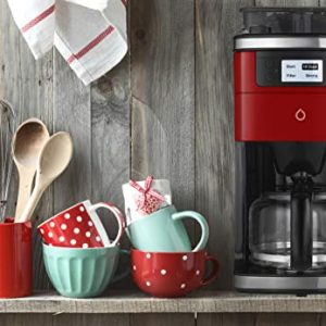 smarter smart icoffee brew coffee maker in red with built in grinder and