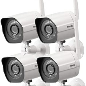 zmodo 1080p full hd outdoor wireless security camera system 4 pack smart