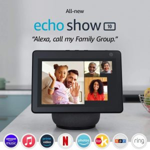 all new echo show 10 3rd gen hd smart display with motion and alexa