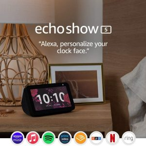 echo show 5 smart display with alexa stay connected with video calling