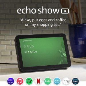echo show 8 hd smart display with alexa stay connected with video
