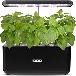 idoo hydroponics growing system indoor herb garden starter kit with led grow 1