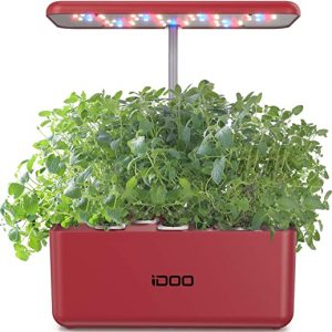 idoo hydroponics growing system indoor herb garden starter kit with led grow 2